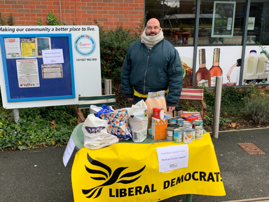 Pop up food bank collection